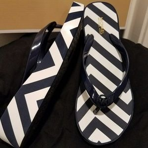Michael Kors Bedford Flip Flop blue white